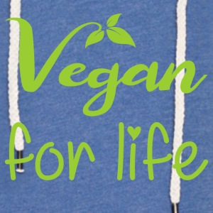 Vegan for livet - Lett unisex hette-sweatshirt