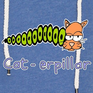 dessiné cat-erpillar main - Sweat-shirt à capuche léger unisexe