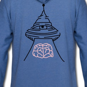ali-ufo-back - Light Unisex Sweatshirt Hoodie