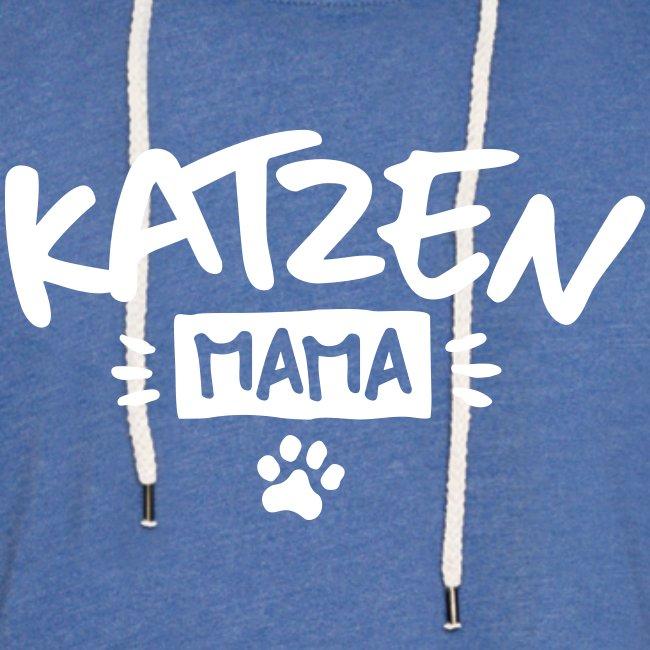 Vorschau: Katzen Mama - Leichtes Kapuzensweatshirt Unisex