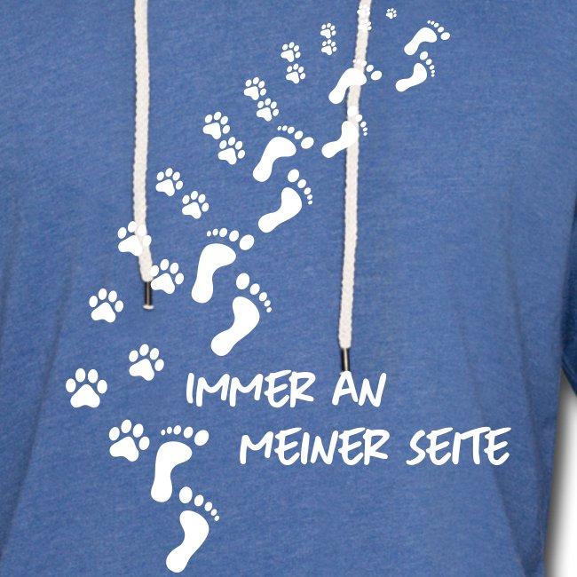 Vorschau: Immer an meiner Seite - Mein Hund und Ich - Leichtes Kapuzensweatshirt Unisex