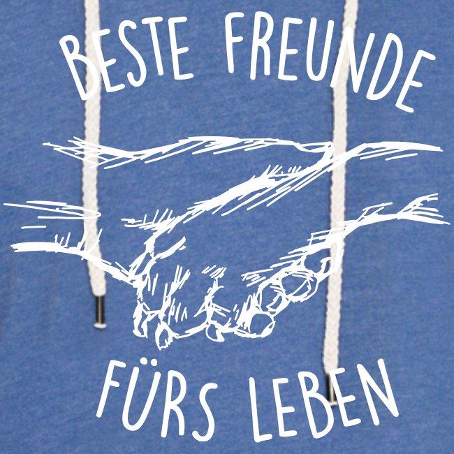 Vorschau: Beste Freunde fürs Leben - Leichtes Kapuzensweatshirt Unisex