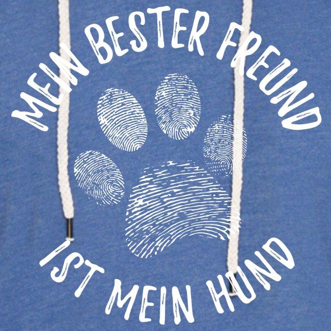 Vorschau: Mein Hund Bester Feund - Leichtes Kapuzensweatshirt Unisex