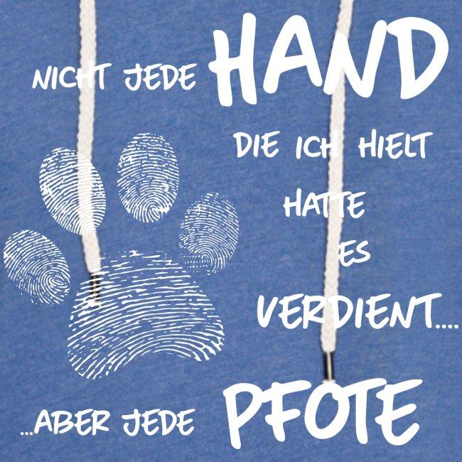 Vorschau: Hand Pfote Hund - Leichtes Kapuzensweatshirt Unisex