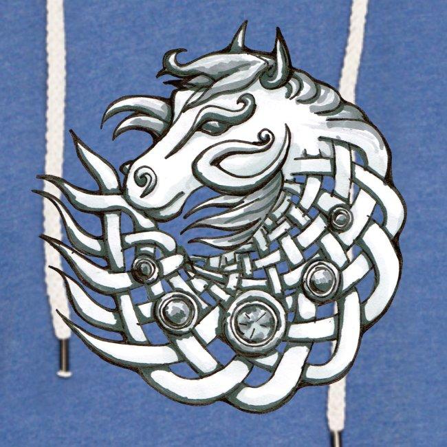 Keltischer Pferde Kopf Geschenk Stolz Knoten Light Unisex Sweatshirt Hoodie