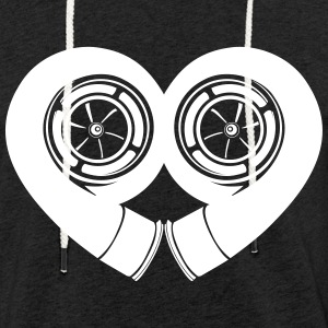 turbocharger love - Light Unisex Sweatshirt Hoodie