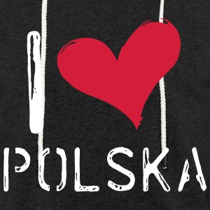 I love Polska - Light Unisex Sweatshirt Hoodie