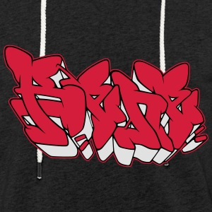 "Graffiti name ""Rene"" with Fill-in AllroundDesigns - Light Unisex Sweatshirt Hoodie"