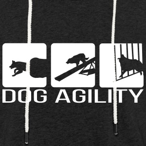 Dog Agility - Sweat-shirt à capuche léger unisexe