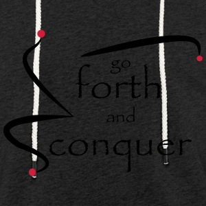 go_forth_red_black - Let sweatshirt med hætte, unisex