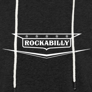 Rockabilly-shirt - Let sweatshirt med hætte, unisex