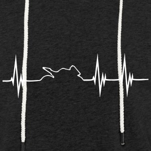 MotoBike Hearbeat shirt - Let sweatshirt med hætte, unisex