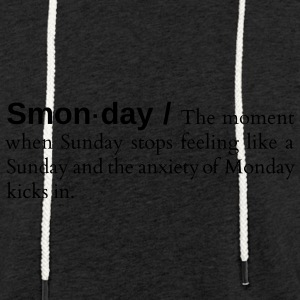 Smonday - Sweat-shirt à capuche léger unisexe