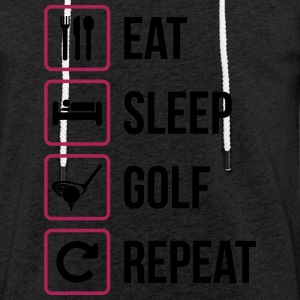 Eat Sleep Golf Répéter - Sweat-shirt à capuche léger unisexe