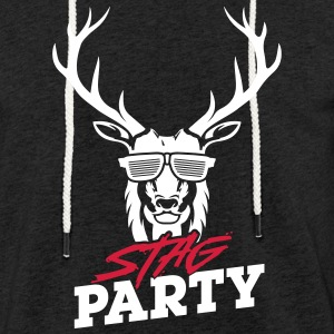 Stag Party - White Design - Sweat-shirt à capuche léger unisexe