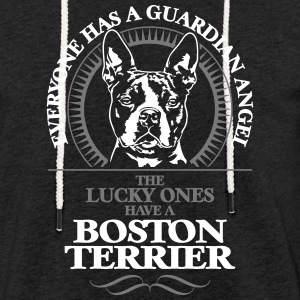 GUARDIAN ANGEL BOSTON TERRIER - Leichtes Kapuzensweatshirt Unisex