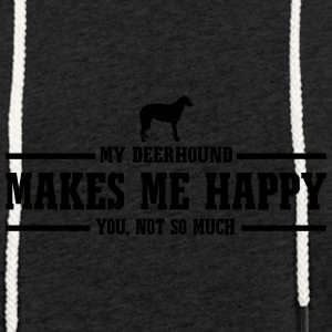 DEERHOUND makes me happy - Light Unisex Sweatshirt Hoodie