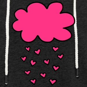 Cloud with hearts, Valentines Day, Love, spring - Light Unisex Sweatshirt Hoodie