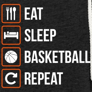 Eat Sleep Basketball Gjenta - Lett unisex hette-sweatshirt