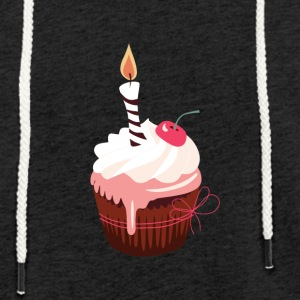 Cupcake with candle - Light Unisex Sweatshirt Hoodie