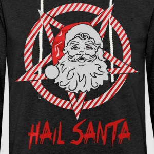 Hail Santa Xmas shirt - Light Unisex Sweatshirt Hoodie