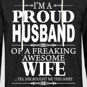 I'm a proud Husband shirt - Light Unisex Sweatshirt Hoodie