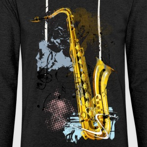 Saxophone Magic - Let sweatshirt med hætte, unisex