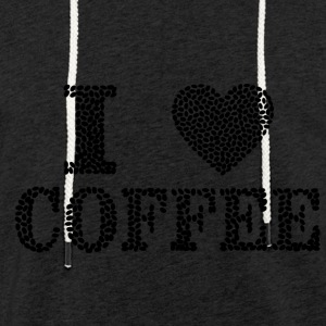 J'aime Coffee - Sweat-shirt à capuche léger unisexe