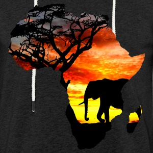 Africa love card - Light Unisex Sweatshirt Hoodie