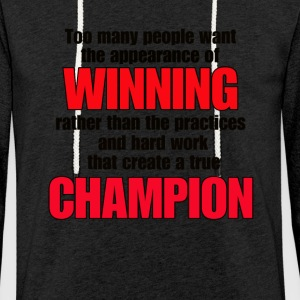 TRUE CHAMPION - Light Unisex Sweatshirt Hoodie