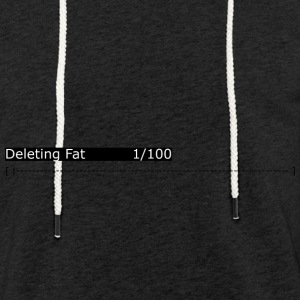 Deleting Fat: Gym, Workout, Fitness - Light Unisex Sweatshirt Hoodie