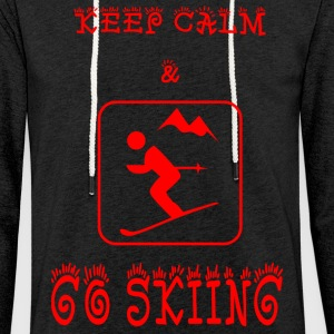 GO_SKIING - Light Unisex Sweatshirt Hoodie