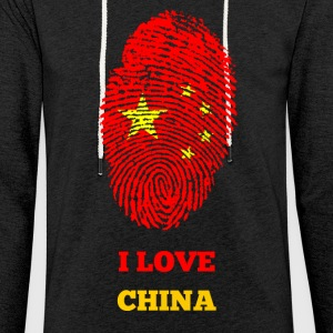 I LOVE CHINA - Leichtes Kapuzensweatshirt Unisex