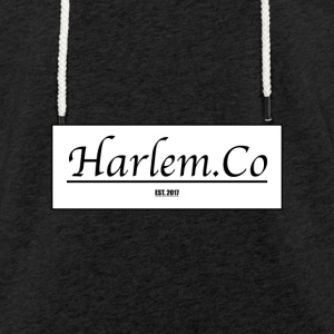 Harlem Co logo White and Black - Light Unisex Sweatshirt Hoodie