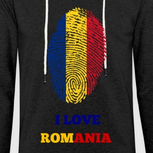 I Love Romania - Light Unisex Sweatshirt Hoodie