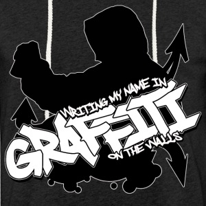 Witing My Name in Graffiti on The Walls T-shirt - Let sweatshirt med hætte, unisex