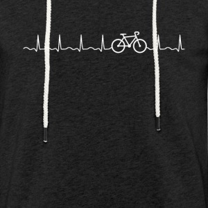 Bike Heartbeat - Let sweatshirt med hætte, unisex