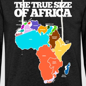 THE TRUE SIZE OF AFRICA - Light Unisex Sweatshirt Hoodie