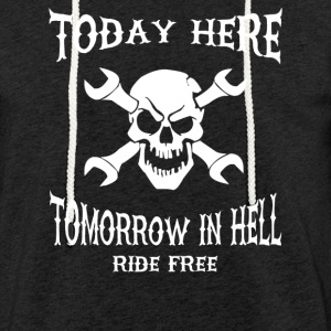 Today here, tomorrow in hell - Sudadera ligera unisex con capucha