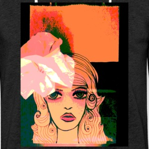Girl with flower in hair - Light Unisex Sweatshirt Hoodie