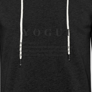 Yogi black shirt - Light Unisex Sweatshirt Hoodie