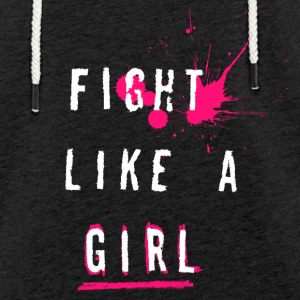 Fight Like A Girl - Lätt luvtröja unisex