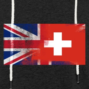 British sveitsiske Half Sveits Half UK Flag - Lett unisex hette-sweatshirt