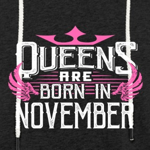 Queens are born in November - Light Unisex Sweatshirt Hoodie