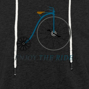 Roue de bicyclette antique Hochrad vintage plaisir motards grande - Sweat-shirt à capuche léger unisexe