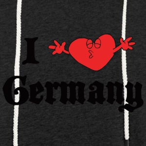 I Love Germany - Lett unisex hette-sweatshirt
