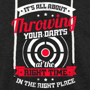 All about throwing your darts at the right time - Leichtes Kapuzensweatshirt Unisex