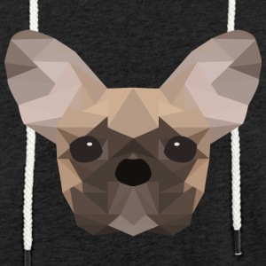 Bouledogue français Low Poly - Sweat-shirt à capuche léger unisexe