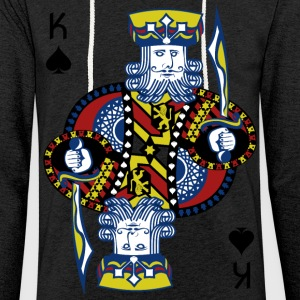 King of Spades Poker Hold'em - Leichtes Kapuzensweatshirt Unisex