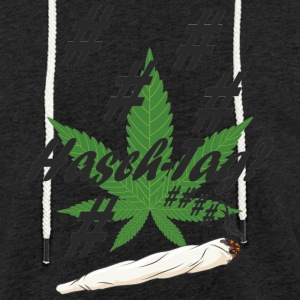 Hash tag with hemp leaf - Light Unisex Sweatshirt Hoodie